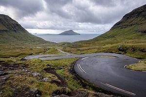 La route courbe des îles Féroé