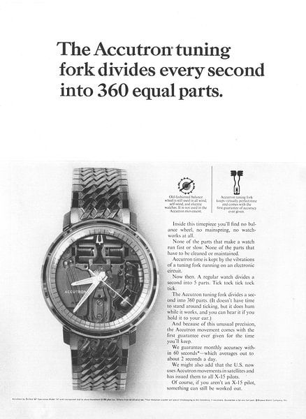 Vintage advertentie 1965 The Accutron van Jaap Ros