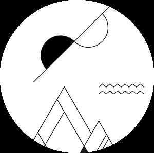 Abstract, Geometrisch Landschap van MDRN HOME