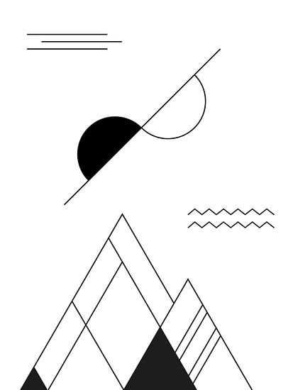 Abstract, Geometrisch Landschap