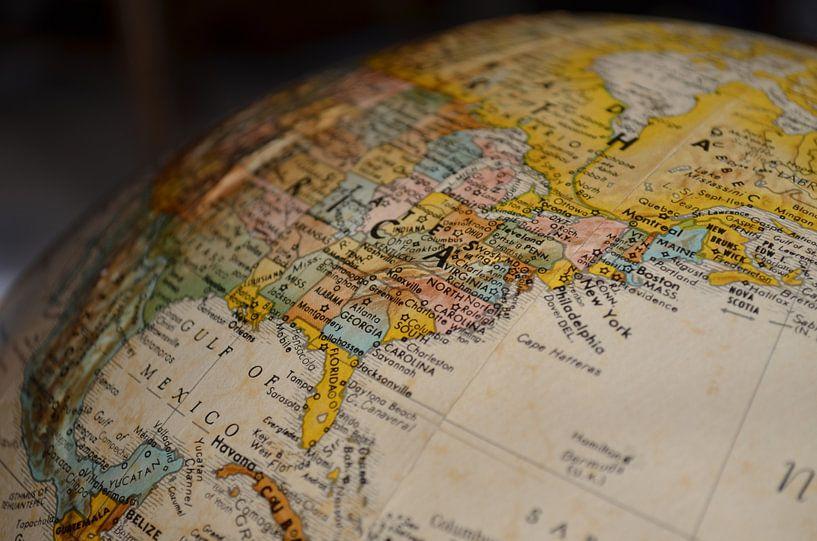 Oost Kust (VS) van World Maps