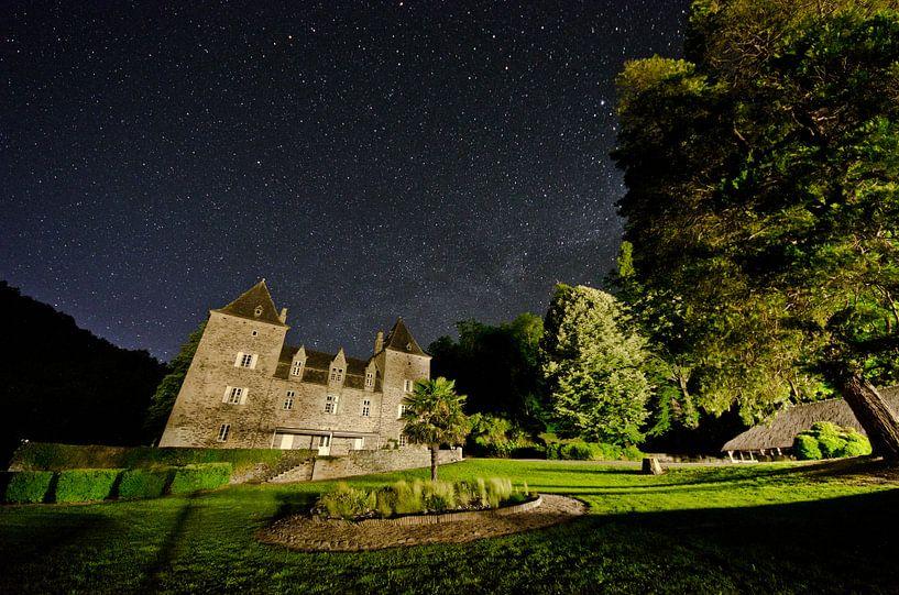 Sterrenhemel bij Chateau du Gibanel van Ricardo Bouman | Fotografie