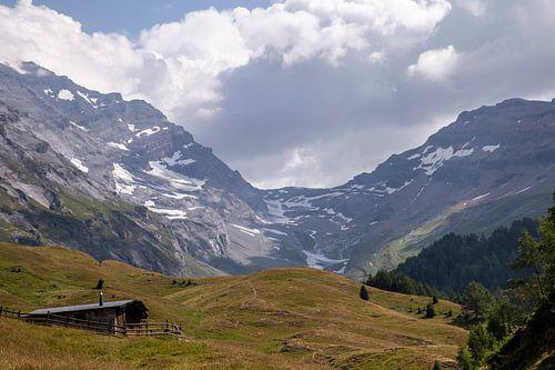 Gletsjer in de Zwitserse Alpen
