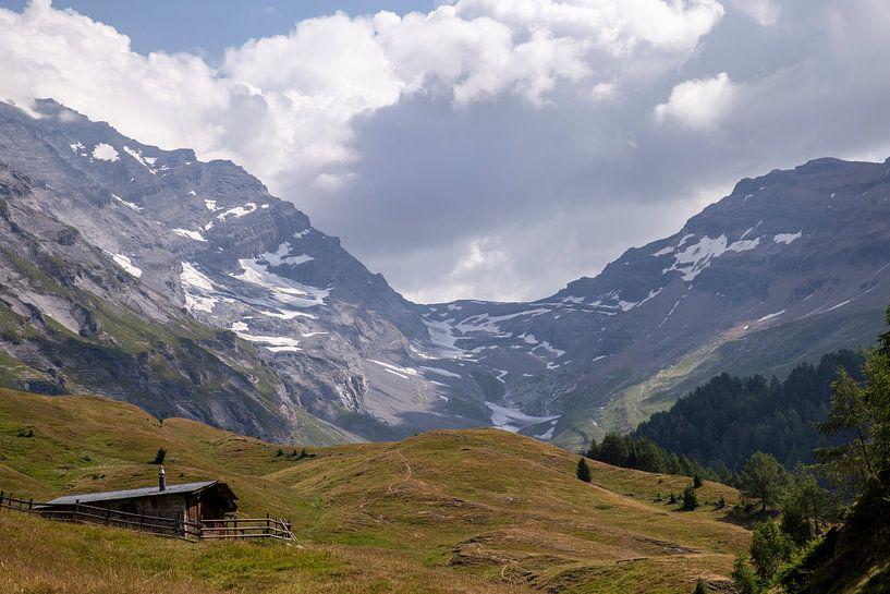 Gletsjer in de Zwitserse Alpen van Sander de Jong