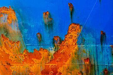 Rumpf in Blau und Rostbraun von Frans Blok