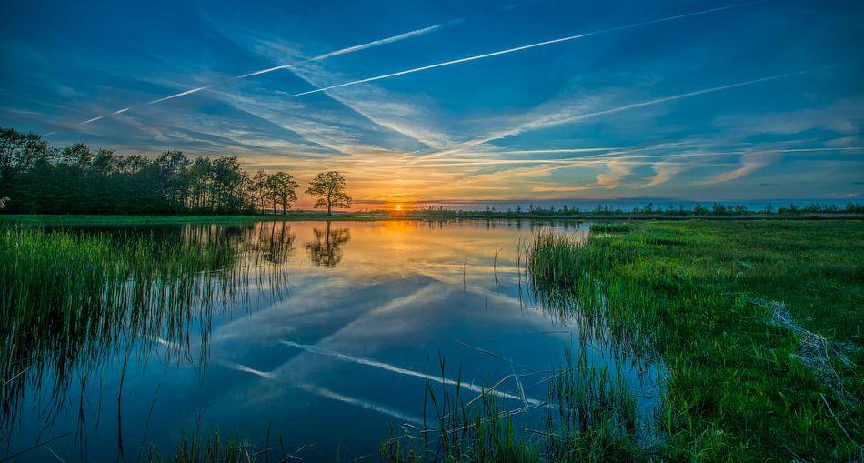 Sunset Zuidlaardermeer  van Reint van Wijk
