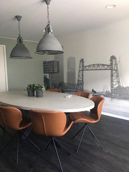Klantfoto: De Hef in Rotterdam van MS Fotografie | Marc van der Stelt, op behang