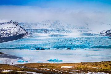 Fjallsarlon Lagune und Gletscher Vatnajökull von Melanie Viola