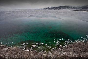 Kaltes grünes Wasser des Herbstes von Michael Semenov