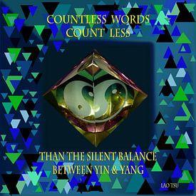 Countless words count less than the silent balance between Yin and Yang van Wieland Teixeira