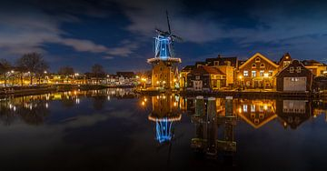 Koude winteravond in Haarlem van Remco Piet