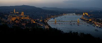 Panorama Boedapest in Kleur van Keserű Collective