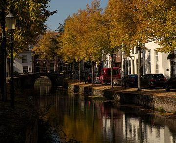 Herfstkleuren gracht Amersfoort van Stephan van Krimpen