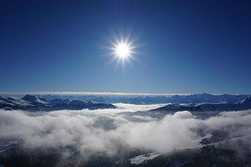 Blick von den Kitzbüheler Alpen nach Westen (Tirol, Österreich) von Kelly Alblas