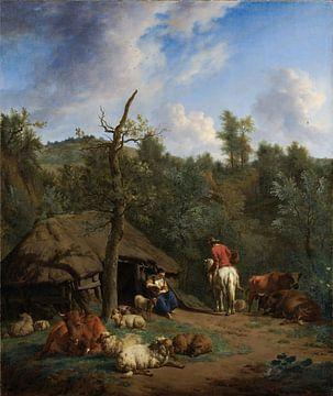 Die Hütte, Adriaen van de Velde, 1671