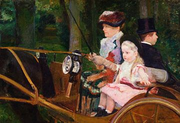 Eine Frau und ein Mädchen am Steuer, Mary Cassatt - 1881