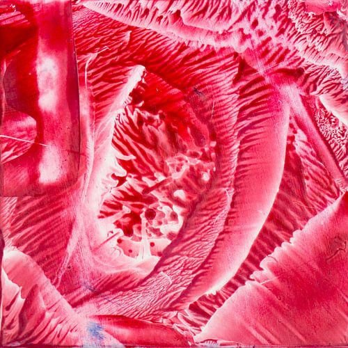 Encaustic Art rood wit