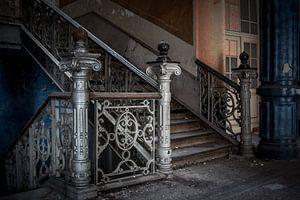 verlaten trappen gang van