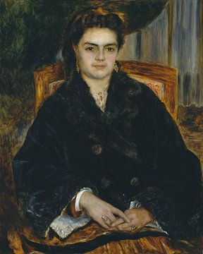 Mme Bernier Édouard (Marie-Octavie-Stéphanie Laurens, 1838-1920), Auguste Renoir sur