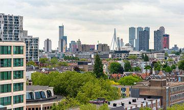 Rotterdam Skyline, Nederland. van