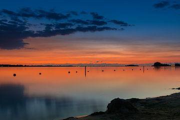 Almere strand zonsondergang van Marco Faasse