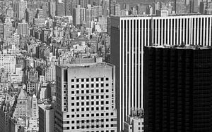 Uitzicht over New York, Manhattan. van RIGARDI Photography