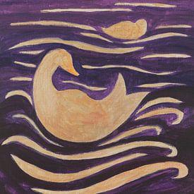 Enten in den Wellen von Ivonne Sommer