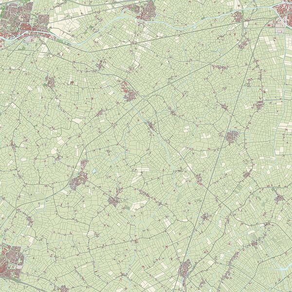 Kaart vanLittenseradeel van Rebel Ontwerp