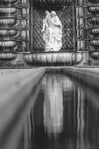 De Narcissus-cascade in tuinen van paleis Het Loo