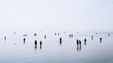 Laagwater aan de Noordzeekust van Axel Bückert