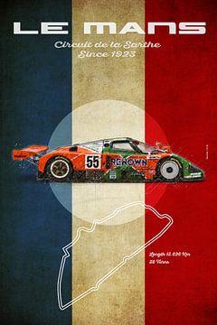 787B in Le Mans Vintage van Theodor Decker