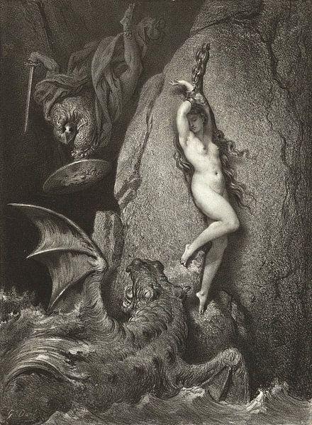 Andromeda - Gustave Doré von Atelier Liesjes