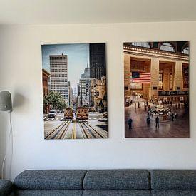 Klantfoto: Grand Central Station van Niels Keekstra, op canvas