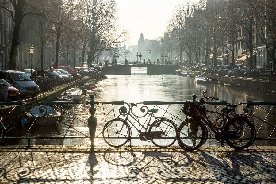 Winter in Amsterdam van Michel van Kooten