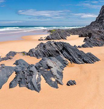 Praia do Castelejo, Vila do Pisbo, Algarve, Portugal von Rene van der Meer