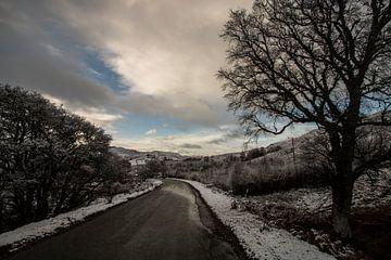Straße durch Schottland von Guus van Mieghem