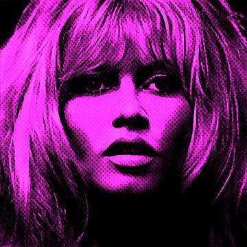 Motiv Brigitte Portrait Bardot - Neon Pink Vintage von Felix von Altersheim