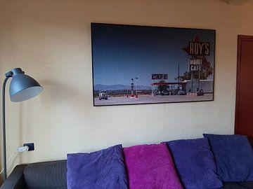 Klantfoto: Roy`s Tankstelle  an der Route 66 van Kurt Krause