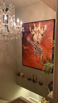 Kundenfoto: Giraffe von Printed Artings