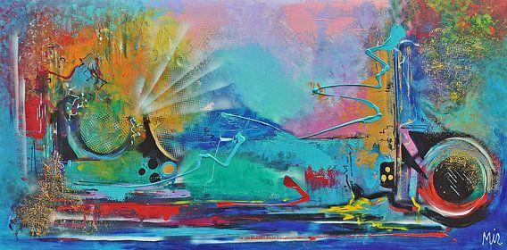 Abstract geen titel van Kunstenares Mir Mirthe Kolkman van der Klip