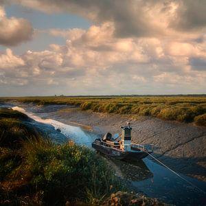 Wachten op het tij - Normandïe Frankrijk van Hannie Kassenaar