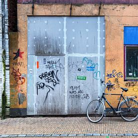 Gazelle herenfiets in binnenstad van Groningen van Evert Jan Luchies