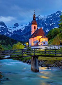 St. Sebastian kerk in Ramsau bei Berchtesgaden van Adelheid Smitt