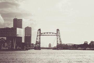 De Hef (Brücke) von Rotterdam - Retro von Lizanne van Spanje