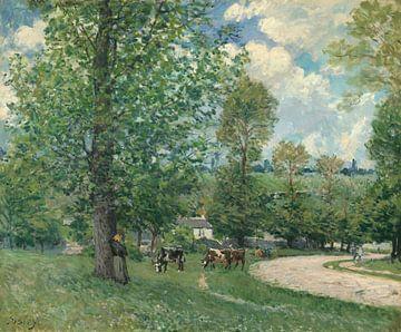 Koeien in de weide, Louveciennes, Alfred Sisley
