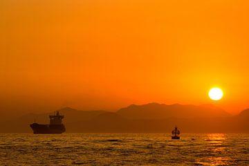 Hong Kong zonsondergang van Gijs de Kruijf