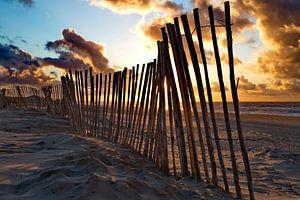 Strandhek op het strand van