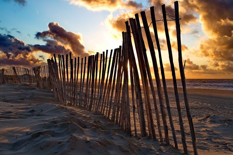 Strandhek op het strand