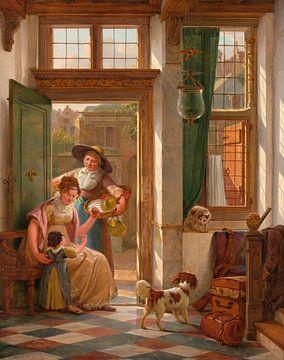 Ein Kirschverkäufer an der Tür, Abraham van Strij