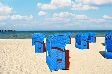 blaue Strandkörbe in Binz von GH Foto & Artdesign